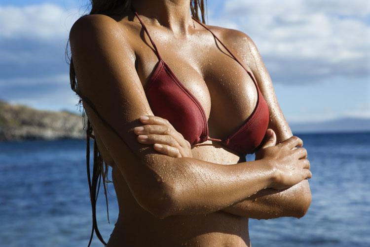 woman in swimsuit torso