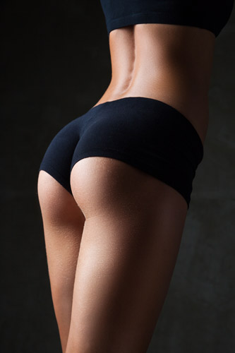 model posing to show posterior